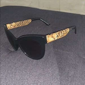 Dolce & Gabbana cat-eye flower baroque sunglasses